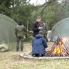 Na  harcerskim obozie zimowym