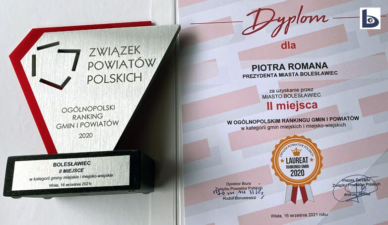 Bolesławiec drugi w rankingu ZPP