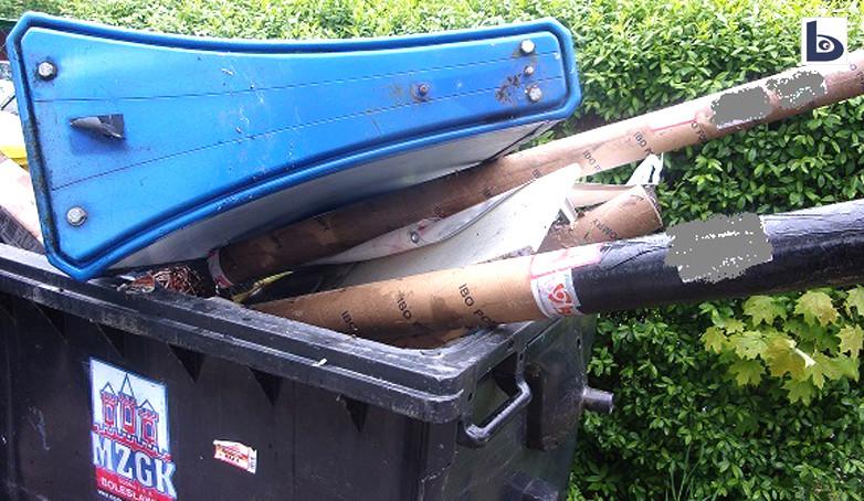 Mandat za podrzucenie śmieci